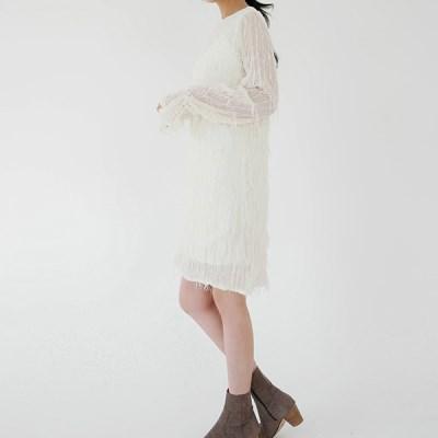 Plume mini dress