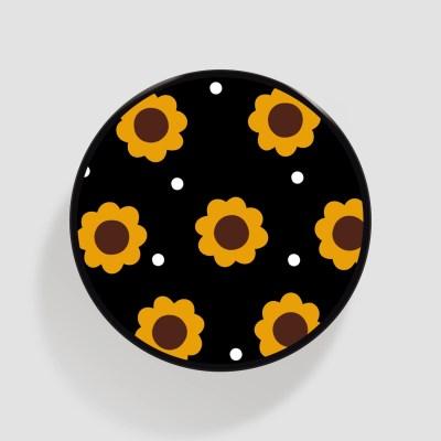 (플라톡) 블랙 해바라기 패턴
