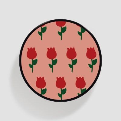 (플라톡) 분홍 장미 패턴