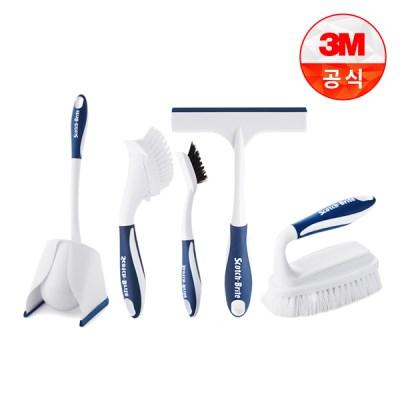 [3M]욕실청소용 브러쉬 5종세트_(1613585)