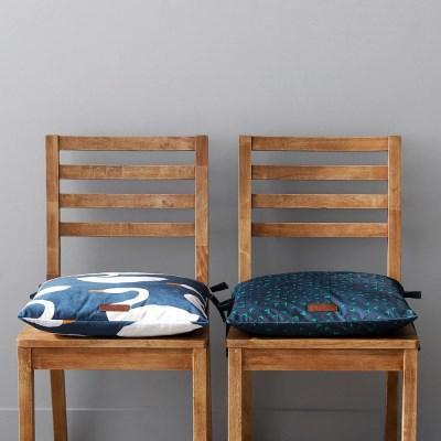 데일리포인트 끈있는 식탁의자방석 (솜포함)