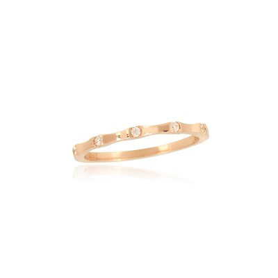 은은한 큐빅 로즈골드 반지 OTRF18409QPW