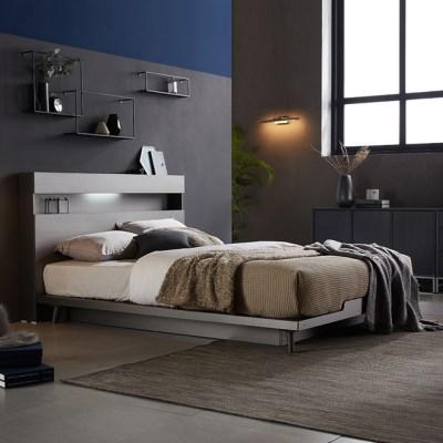 아델리오 LED 조명 퀸사이즈 침대 + 독립매트리스_(1840027)