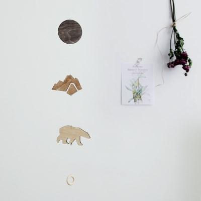 [위크앤드] 우드 인테리어 모빌-북극곰-polar bear