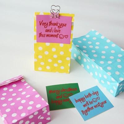 Polka Dot Paper Bag - small