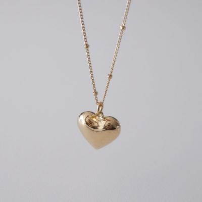 [925실버] 닷 체인 하트 목걸이 dot chain heart necklace