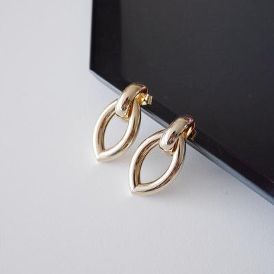 커넥트 골드 볼드 링 귀걸이 connected gold bold ring earring
