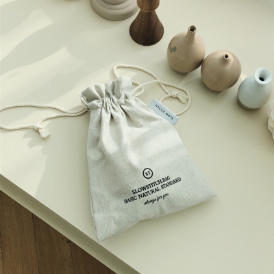 linen mini pouch
