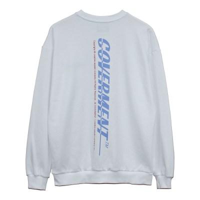 Vertical Big Logo Print Sweat shirts_White