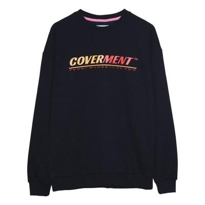 Big Logo Print Sweat shirts_Black