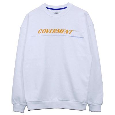 COVERMENT Signature Main Logo Print SweatShirts_WH(YE)