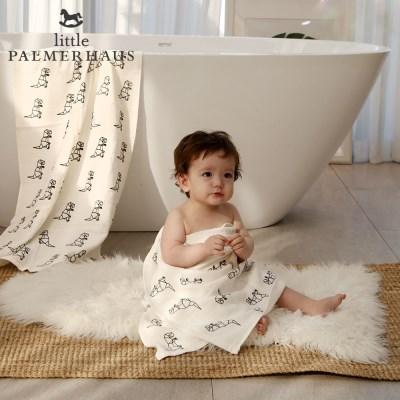 토토리_다이노 양면 아기목욕타올 1장 거즈수건 블랭킷