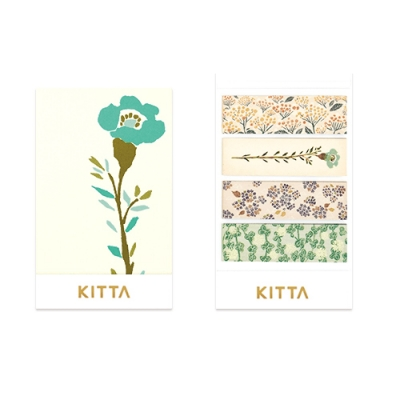 [KITTA] 포켓형 마스킹 테이프_KIT049 꽃4