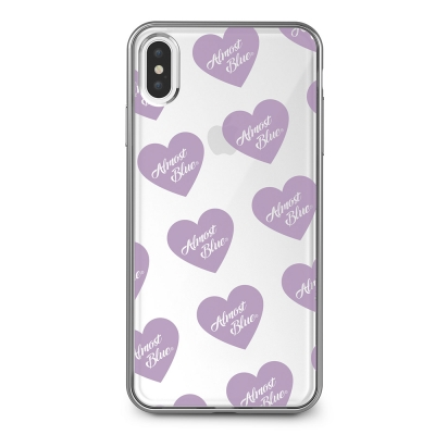 ALMOST BLUE PURPLE HEART LOGO IPHONE CASE