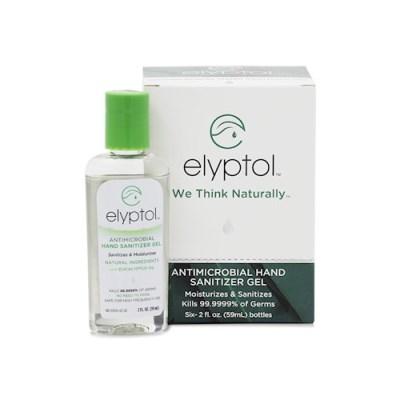 [세븐허브] Elyptol 항균 손 소독제 젤  6팩 + 클립