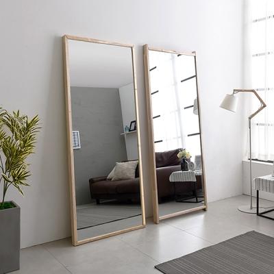 아카시아 특대형 와이드 원목 전신거울 거치경 대형거울 은경5T