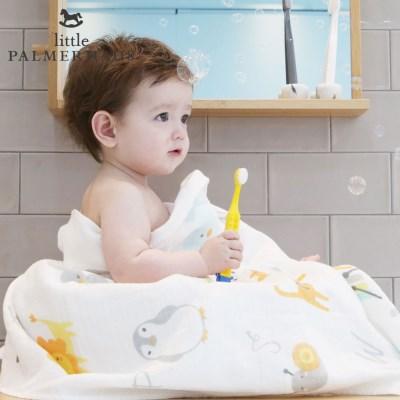 테리파머 토토리_알파벳 양면 아기목욕타올 1장 속싸개 거즈수건