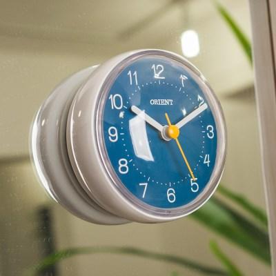 오리엔트 OT1599W 강력한 부착형 욕실 방수시계 블루 OT1599