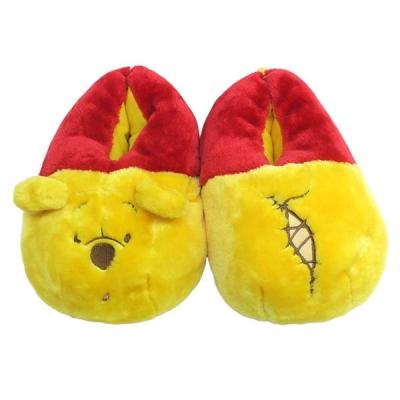 [일본 수입 정품] 폭신폭신 곰돌이 푸우 슬리퍼 실내화-098252