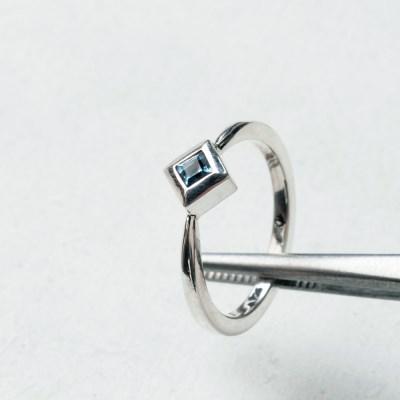 [normaldott] tiny topaz silver Ring