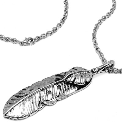 [MARK-4] FEATHER NECKLACE