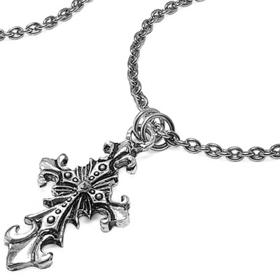 [MARK-4] ORNATE MEDIEVAL CROSS NECKLACE