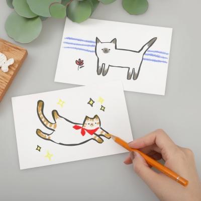 컬러링 말썽꾸러기 고양이엽서 시리즈 6set