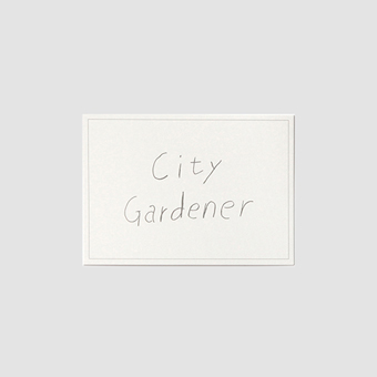 FLASK city gardener postcard_w/gray