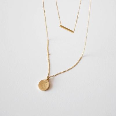 [925실버] 2라인 레이어드 골드 목걸이 2line layered gold necklace