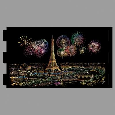 스크래치 라이트 필름 - 에펠탑