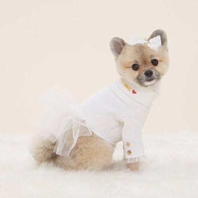 반달펫 리틀엔젤 드레스(white)
