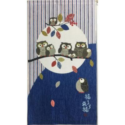 일본풍 커튼 노렌 82cm*150cm- 올빼미(6480375S1)블루