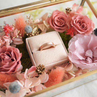 MELTING GOLD FLOWER RING BOX