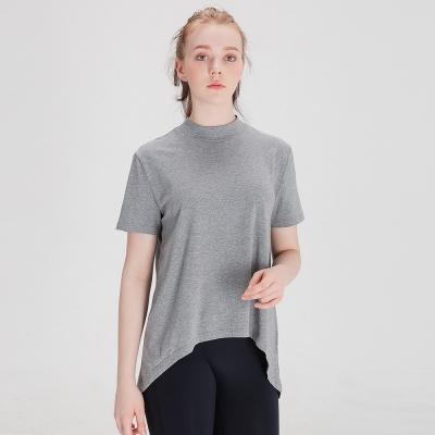 에이라인 반목폴라 반팔 티셔츠 DFW5017 그레이