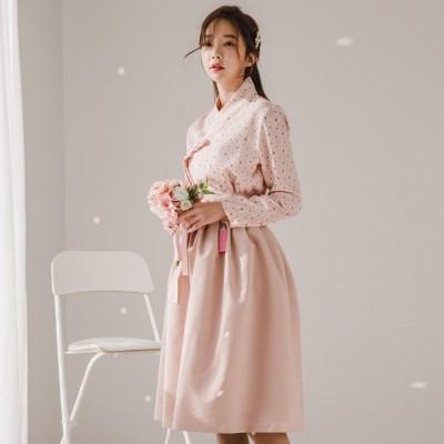 인화 핑크 허리치마Ⅰ_(1056058)