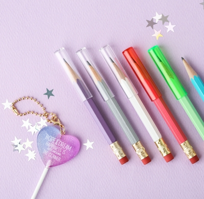 Crystal pencil cap 7set