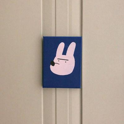 [캔버스액자A5]Crayon Rabbit