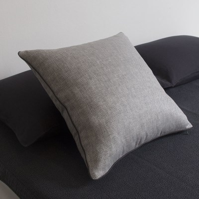 Herringbone Linen Cushion.gray