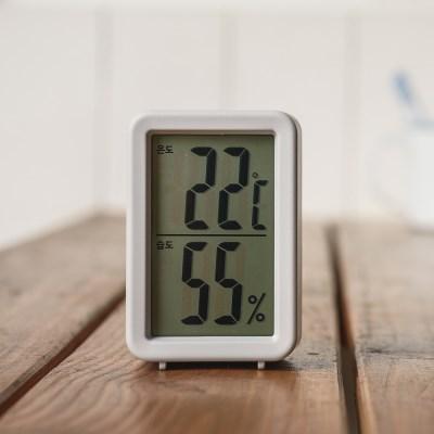오리엔트 OT1585THG 벽탁상겸용 큰숫자온도습도계 그레이 OT1585