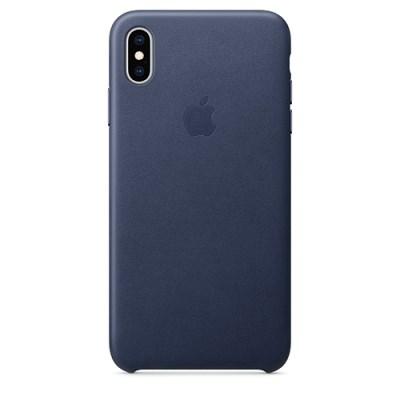 iPhone XS Max 가죽 케이스 - 미드나이트 블루 [MRWU2FE/A]