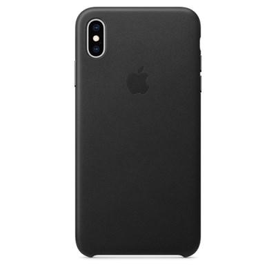 iPhone XS Max 가죽 케이스 - 블랙 [MRWT2FE/A]