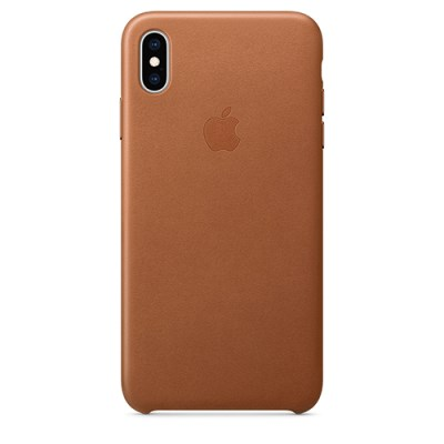 iPhone XS Max 가죽 케이스 - 새들 브라운 [MRWV2FE/A]