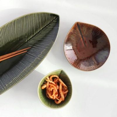 일본 카사노하(kasanoha) 나뭇잎 볼/접시