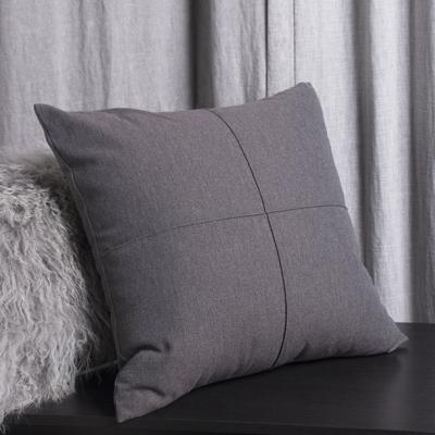 Warm Gray Pintuck Cushion