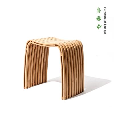 대나무 스툴 Bamboo colin - curved bamboo stool_(618304)