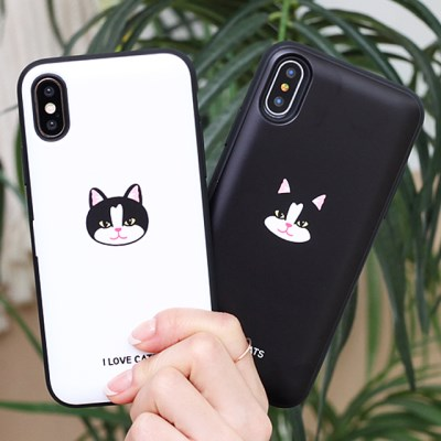 [TryCozy]고양이얼굴 도어범퍼 케이스