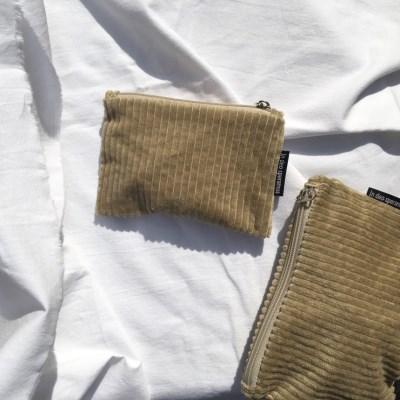 골덴 베이지 파우치(Corduroy beige pouch)