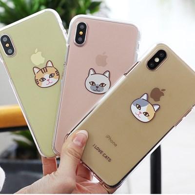 [TryCozy]고양이얼굴 젤리 케이스(LG폰)