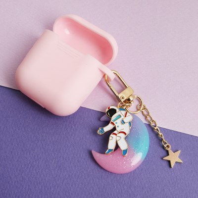 우주인과 핑크달 키링 케이스
