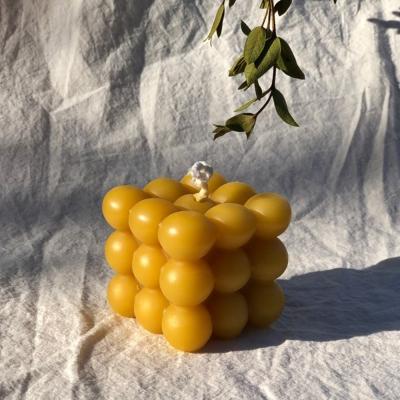 큐브캔들 100% 천연밀랍초